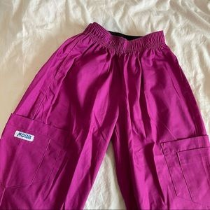 Fuchsia Pink Mobb Scrub Pants
